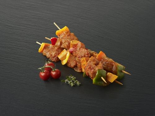Brochette de dinde marinée Masala